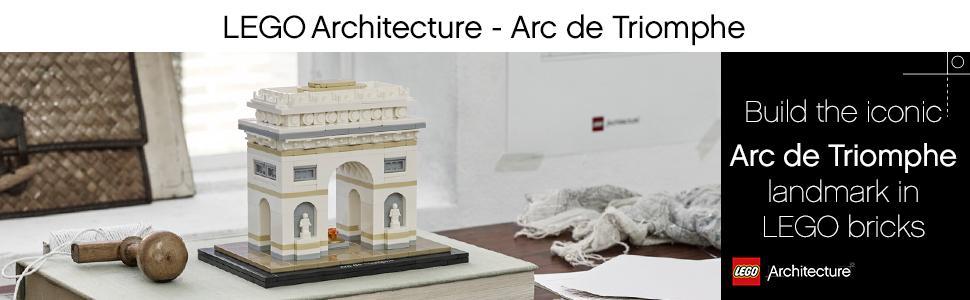 Lego® Architecture Zubehör 1x Fliese 1x8 Arc de Triomphe  21036 Neu