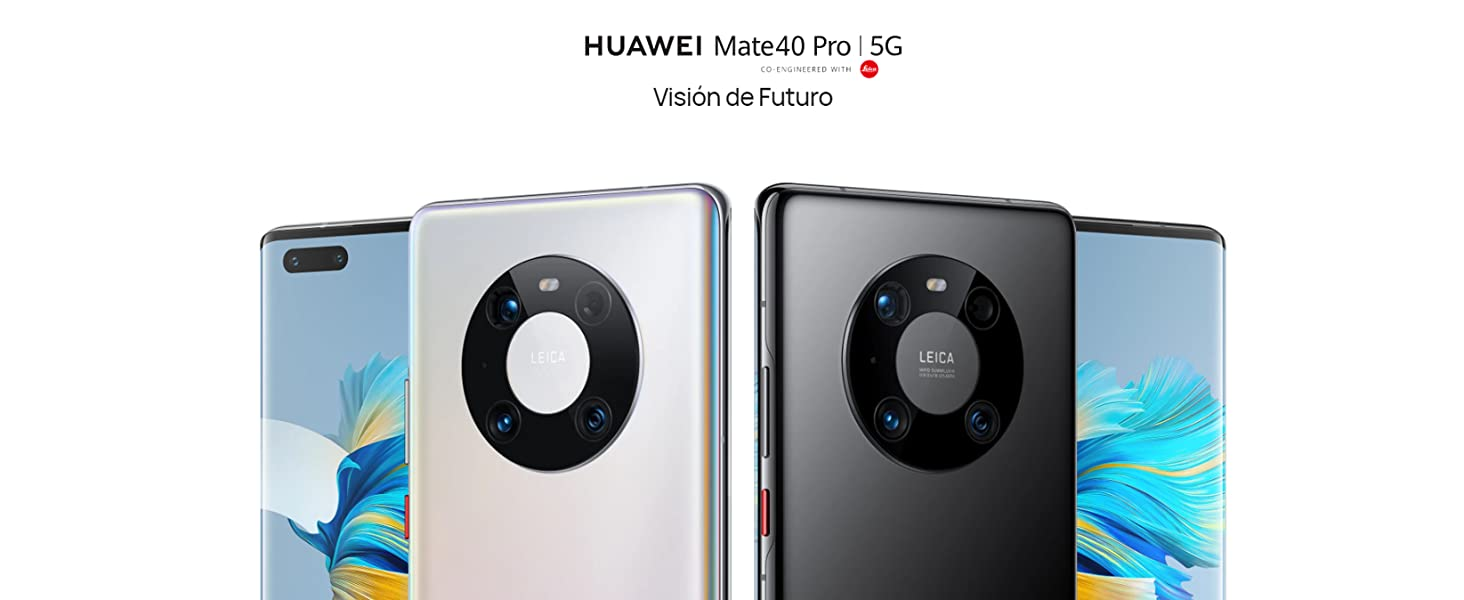 Huawei Mate 40 Pro Silver + FreeBuds Pro White - 8 GB + 256 GB, Cámara Leica 50 MP