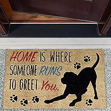 HOME DOG DOORMAT