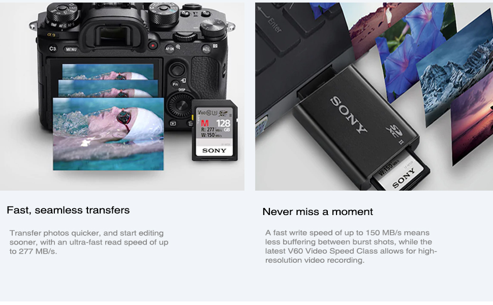 a7 III ILCE-7M3 // ILCE-7M3K a7 ILCE-7 E-Mount Digital Cameras a7S ILCE-7S MEMZI PRO 64GB 100MB//s Class 10 V30 SDXC Memory Card Compatible for Sony Alpha a7S II ILCE-7SM2 a7 II ILCE-7M2