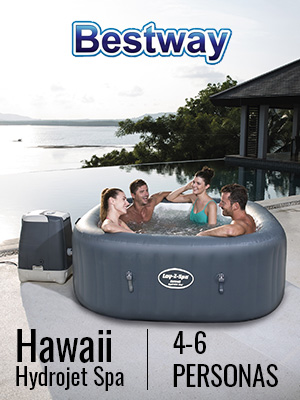 Bestway Lay-Z-SPA Hawaii HydroJet Pro - Jacuzzi autohinchable ...