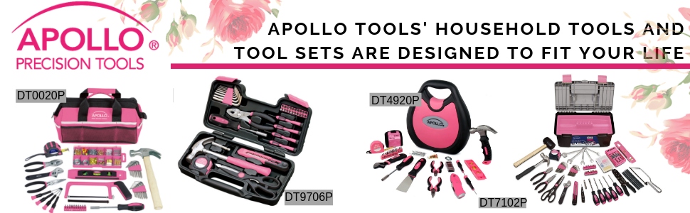 Pink tool set with cordless screwdriver, tool kit with screwdriver pink cordless screwdriver