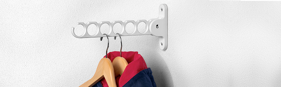 Spectrum 35000 Diversified Wall Mount Hanger Holder Closet Organizer, White