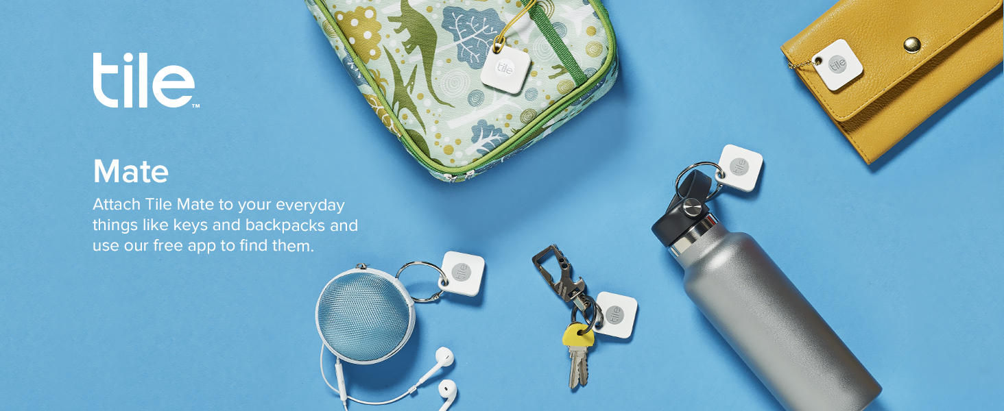 Attach Tile Mate to everyday tings like keys and backpacks