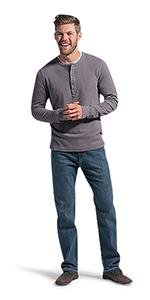 LEE Men's Big amp; Tall Modern Series Extreme Motion Straight Fit Jean