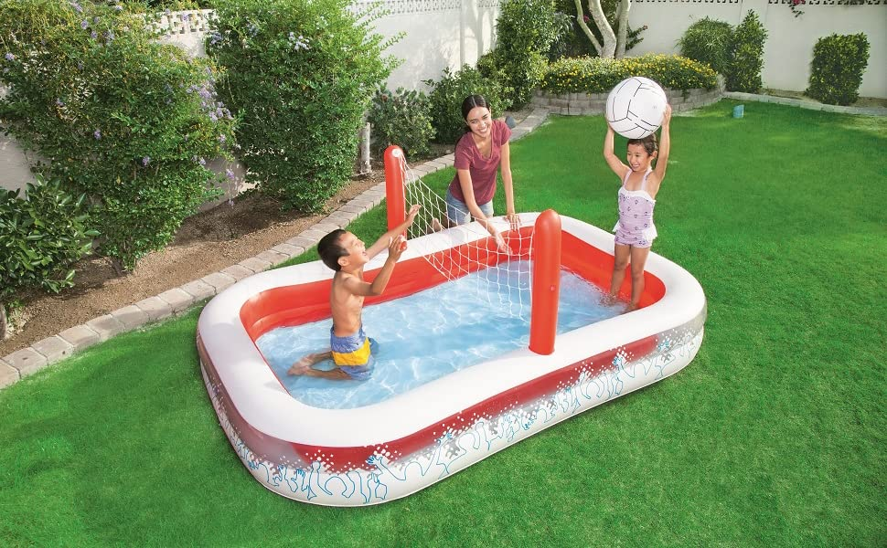 Piscina Hinchable Infantil con Red Voleibol Bestway Inflate-A ...