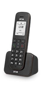 SPC Air teléfono inalámbrico con identificador de Llamadas, Negro: Amazon.es: Electrónica
