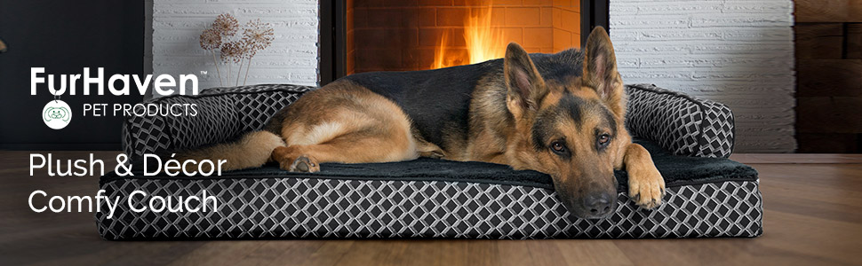furhaven; company; banner; lifestyle; image; dog; sofa; bed