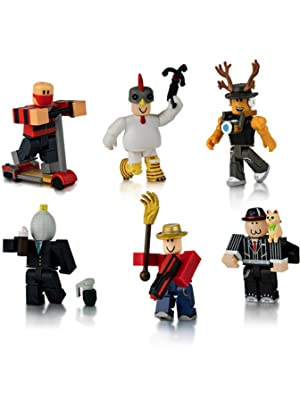 Roblox Fortnite Three Amazon Com Roblox Action Collection Masters Of Roblox Six Figure Pack Includes Exclusive Virtual Item Toys Games