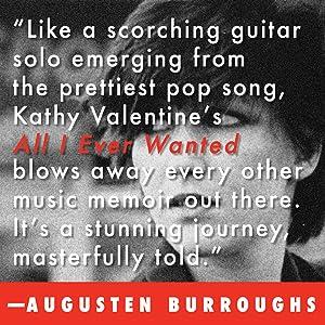 Augusten Burroughs, Running With Scissors, Kathy Valentine, The Go Gos, The Go-Go's, music memoir