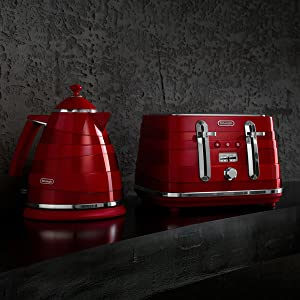 matching toaster and kettle red