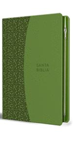 Biblia RVR60 Símil piel verde con cremallera