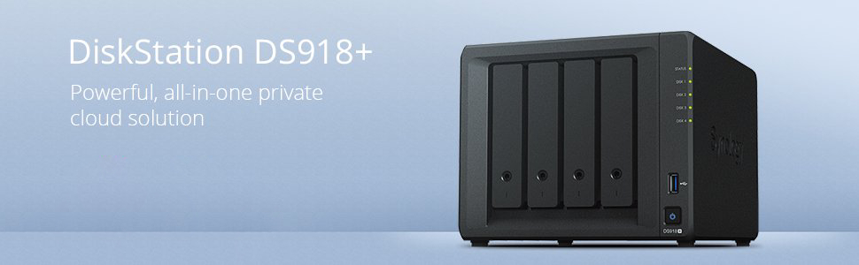 Synology 4 bay NAS DiskStation DS918+ (Diskless)
