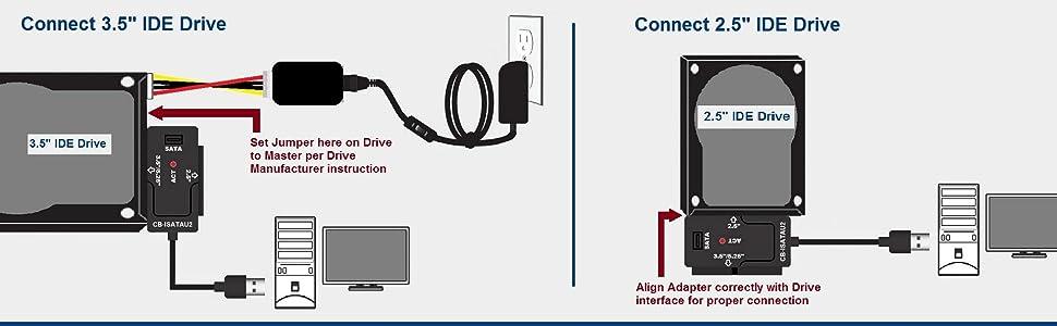CB-ISATAU2, Hard Drive, SATA, IDE, Optical, SSD, TB, GB, USB 3.0, USB 2.0