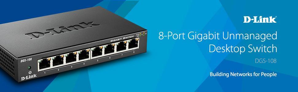8-Port Gigabit Unmanaged Desktop Switch