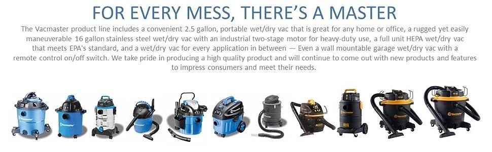 vacmaster, shop vac, shopvac, wet dry, vacuum, garage vac, professional vac, home improvement