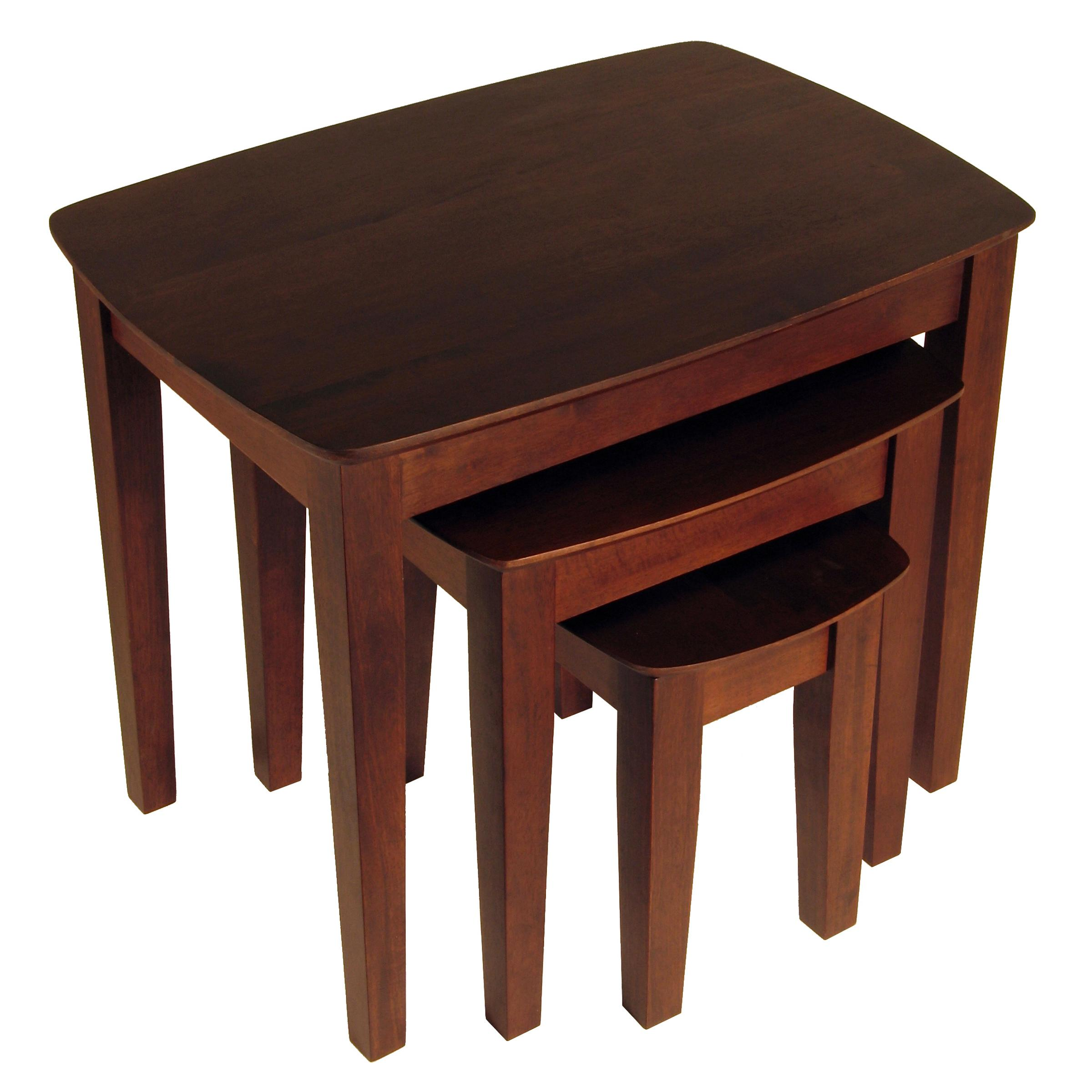Amazon.com: Winsome Wood Nesting Table, Antique Walnut ...