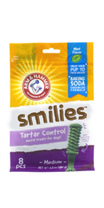 Arm & Hammer, Dog Treats, Dental Care, Tartar Control, Fresh Breath