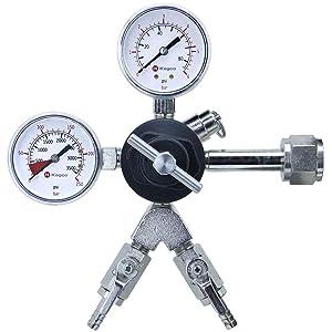 Kegco 762-2 Commercial Grade Dual Gauge Two Product Regulator