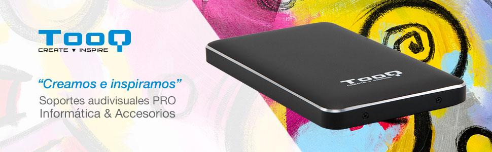 TooQ TQE-2531B - Carcasa para discos duros HDD de 2.5