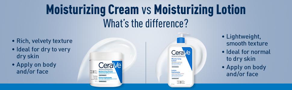 moisturizing lotion and cream
