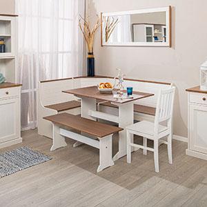 Banc d'angle, salon de salle à manger, table d'angle avec espace de rangement, banc d'angle complet.