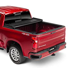 Amazon Com Gator Etx Soft Tri Fold Truck Bed Tonneau Cover 59109 Fits 2014 2018 2019 Ltd Lgcy Chevy Gmc Silverado Sierra 1500 5 8 Bed Automotive