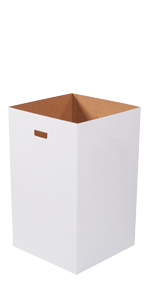 40 Gallon Plain Corrugated Trash Cans with Hand Holes