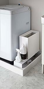伸縮 洗濯機隙間ラック タワー ホワイト 4338