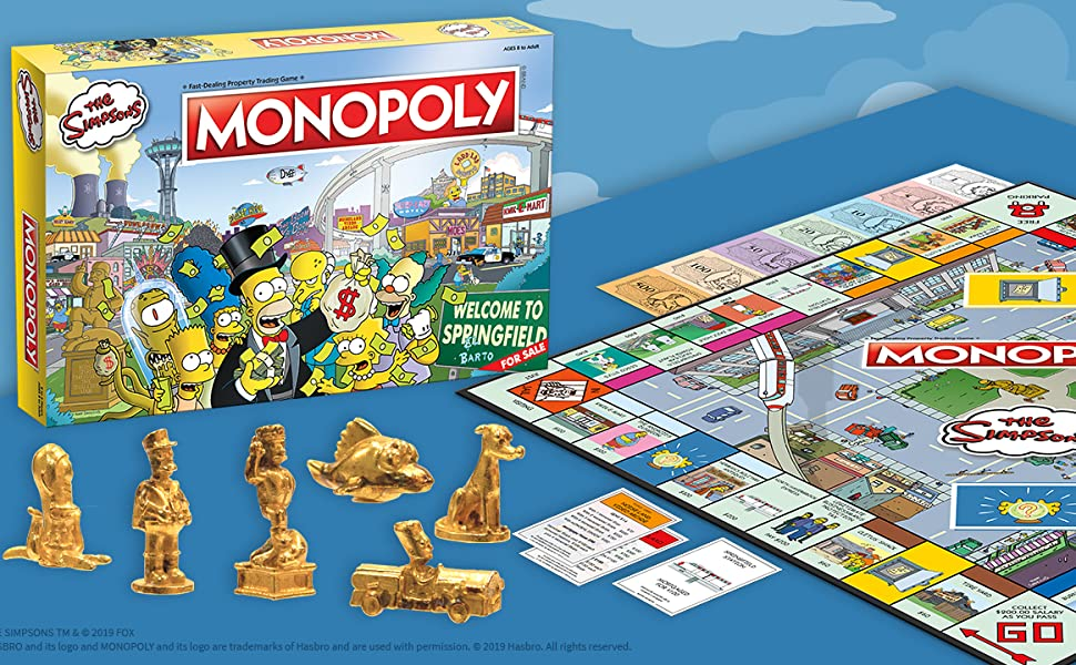 Simpsons Monopoly juego de tablero