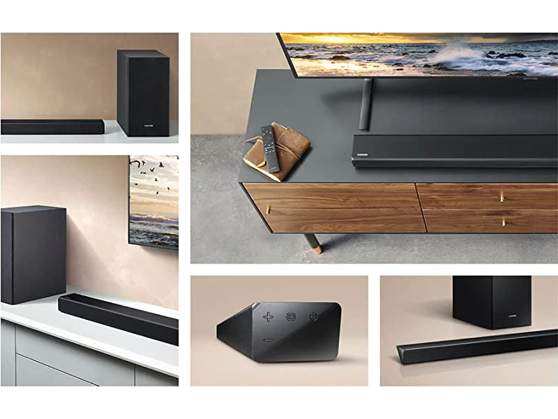 Examples of how to you can have the Soundbar setup in your home
