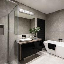 WAC Lighting WS-6624-35-BN DweLED Vie 24in LED Bathroom Vanity /& Wall 3500K in Brushed Nickel Light Fixture 24 Inches,