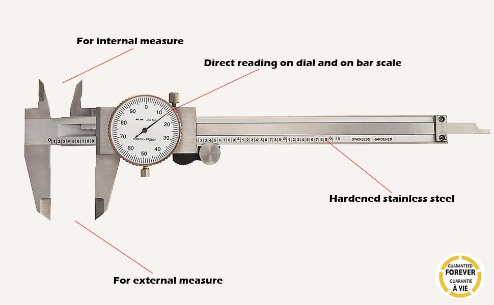 "Fowler 72-030-006 Caliper 6/"" Inch//Metric"