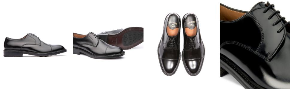 lottusse, blucher hombre, derby hombre, zapato negro con cordones