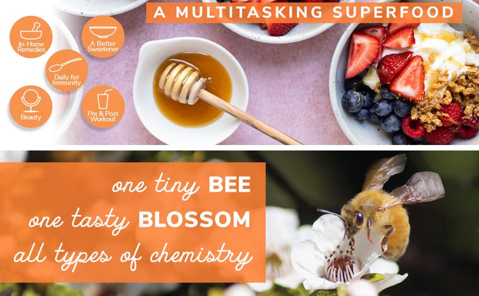 Wedderspoon Raw Premium Manuka Honey | New Zealand, Unfiltered, Unpasteurized, Drops, Vinegar, Snack, Healthy, Tea