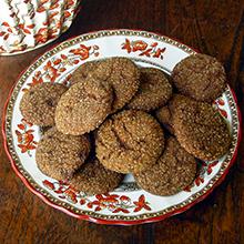 Brown Sugar Ginger Drop Cookies made with India Tree Dark Muscovado Sugar