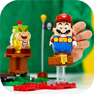LEGO Super Mario - Pack Inicial: Aventuras con Mario, juguete y regalo creativo para niños y niñas, set LEGO interactivo con figuras de LEGO Mario, Bowsy y un Goomba (71360): Amazon.es: Juguetes