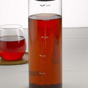 HARIO ハリオ はりお 耐熱ガラス たいねつ がらす TEE ティー お茶 おちゃ シンプル 簡単 カンタン 気軽 カワイイ 可愛い キレイ 綺麗 冷水筒 冷蔵庫ポット 大容量 メモリ付き