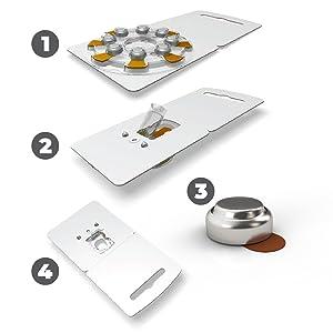 AmazonBasics, Size 312, Hearing Aid Batteries, 60-Pack, Long Lasting Performance