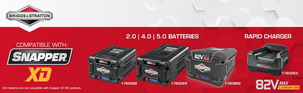Briggs and Stratton 82 Volt Lithium Ion Batteries