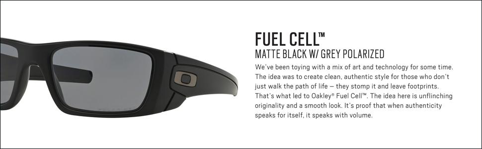 3216225714e Amazon.com  Oakley Fuel Cell Polarized Mens Sunglasses - Matte Black ...