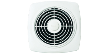 "Broan-NuTone 508 Exhaust 270 CFM 10/"" Through Wall Ventilation Fan White Square"