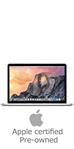 "Apple MacBook Pro MJLQ2LL/A; Apple; Retina; Macbook pro; 15.4""; certified refurbished; pre-owened"