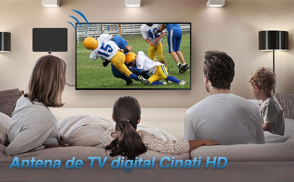 Cinati Antena de TV, Antena HDTV Digital de Interior de 130 Millas ...