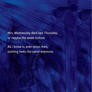text size, the story, the beginning, Mrs. Wednesday