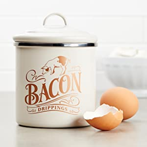 ayesha curry, bacon grease container, bacon grease tin, ayesha curry cookware