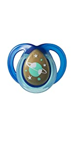 glow in the dark pacifier glow-in-the-dark blue space planets stars sleep soother soothy binky moon