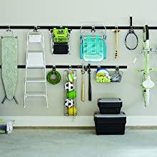 rubbermaid garage storage system organization kit system