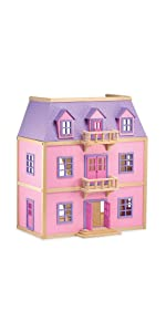 doll;house;pink;furnished