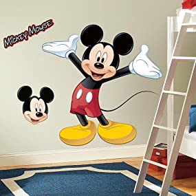 Perfect Disney Mickey Mouse Peel And Stick Wall Decals Part 6
